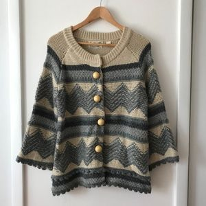 Field Flower By Anthro Chunky Cardigan Sweater